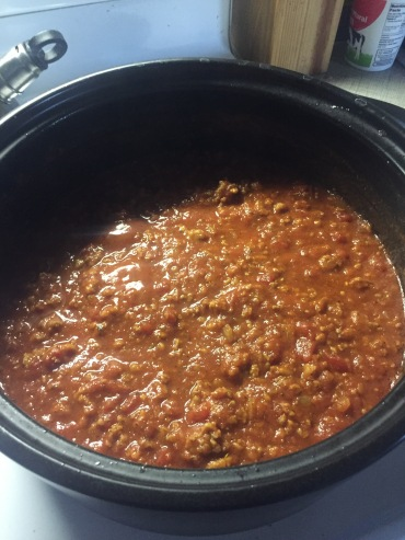 Sauce after simmering 90-120 minutes