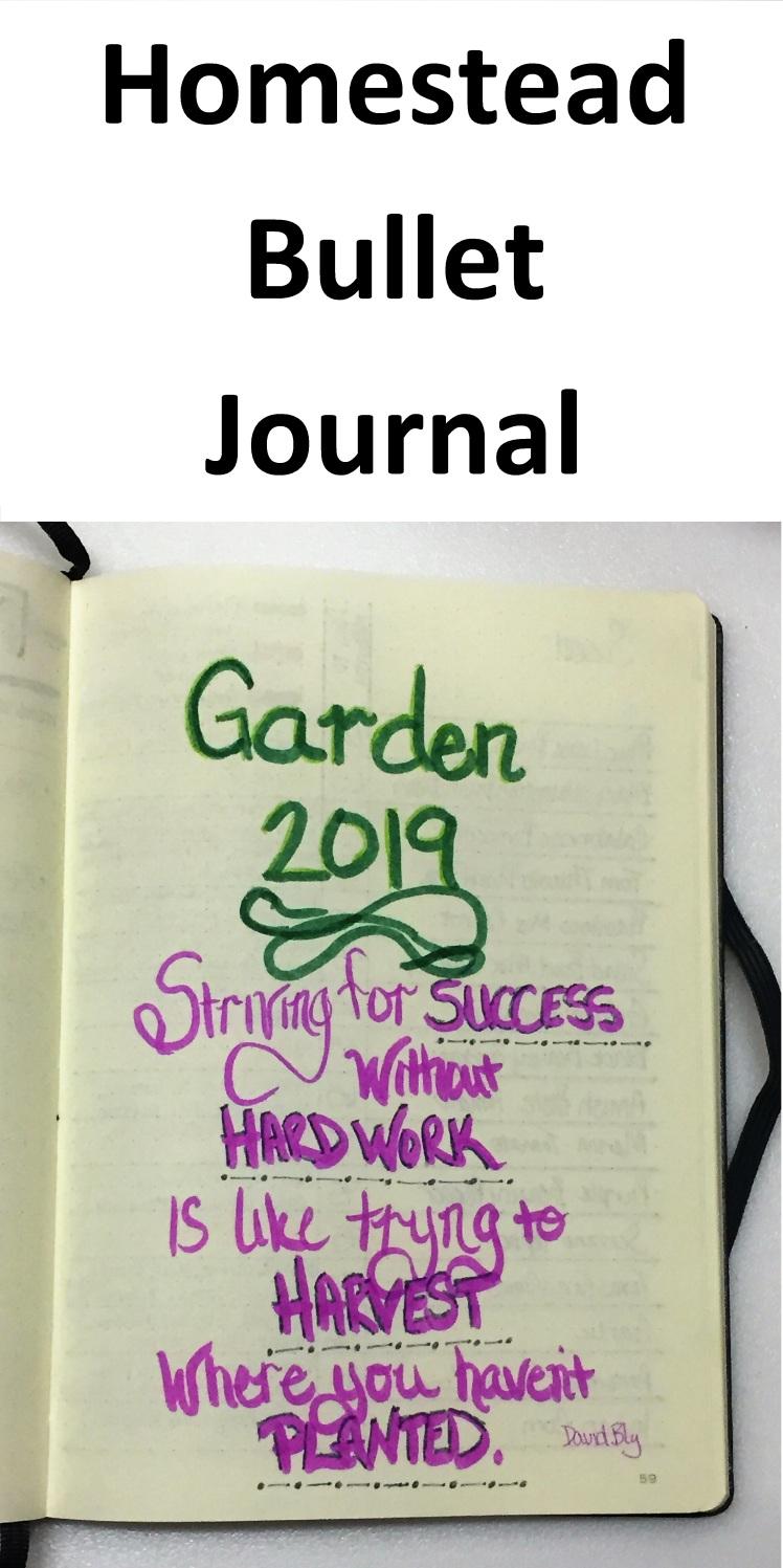Bullet Journal Garden 2019