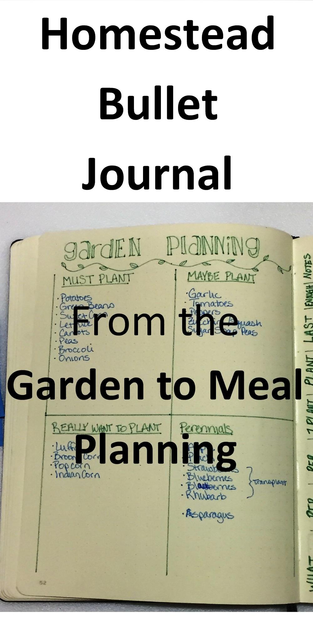 Bullet Journal Garden to Meal