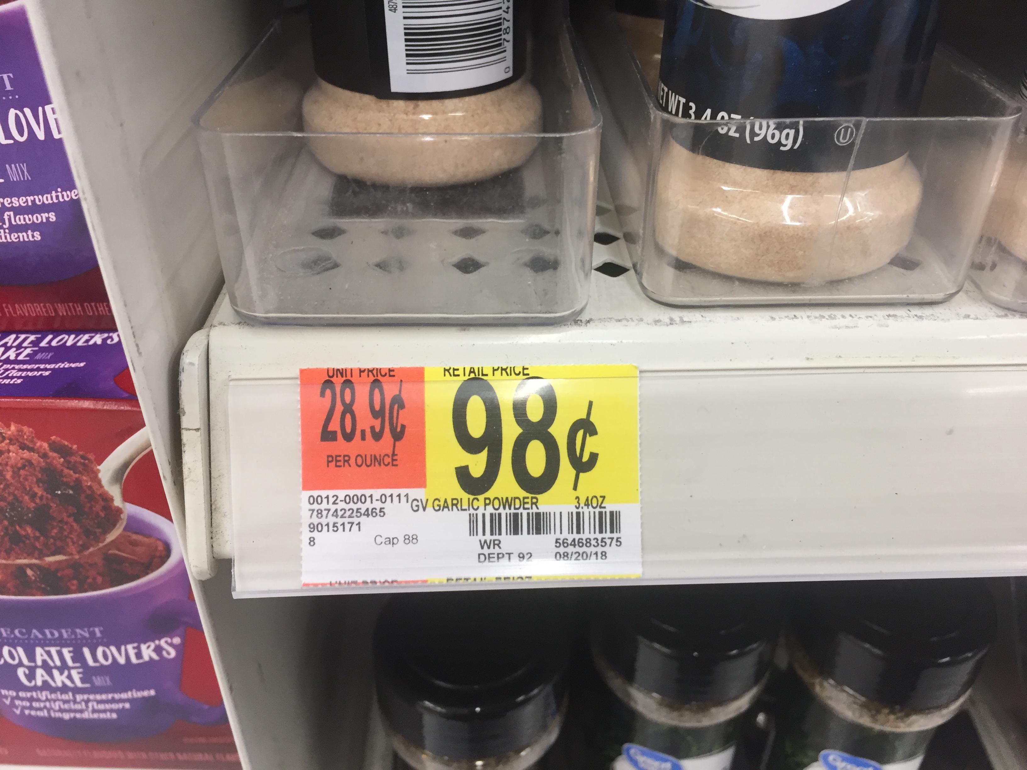 Garlic Powder Comparison - Small