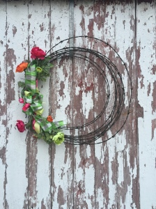 Spring Barb Wire Wreath