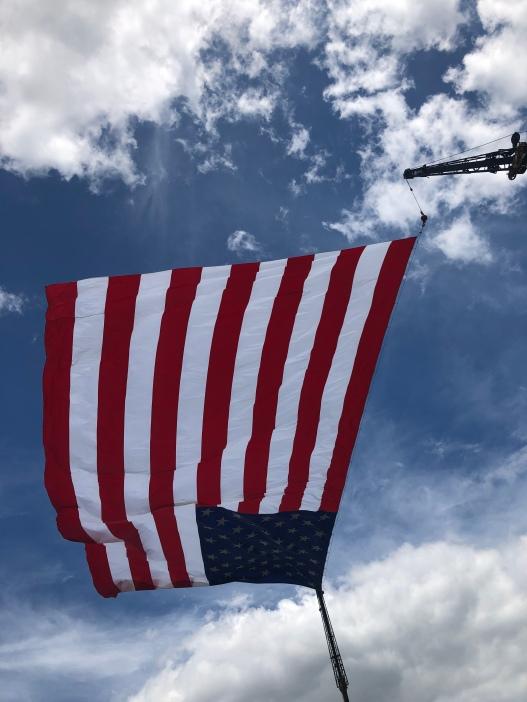 Giant American Flag at Rantoul Farm Show