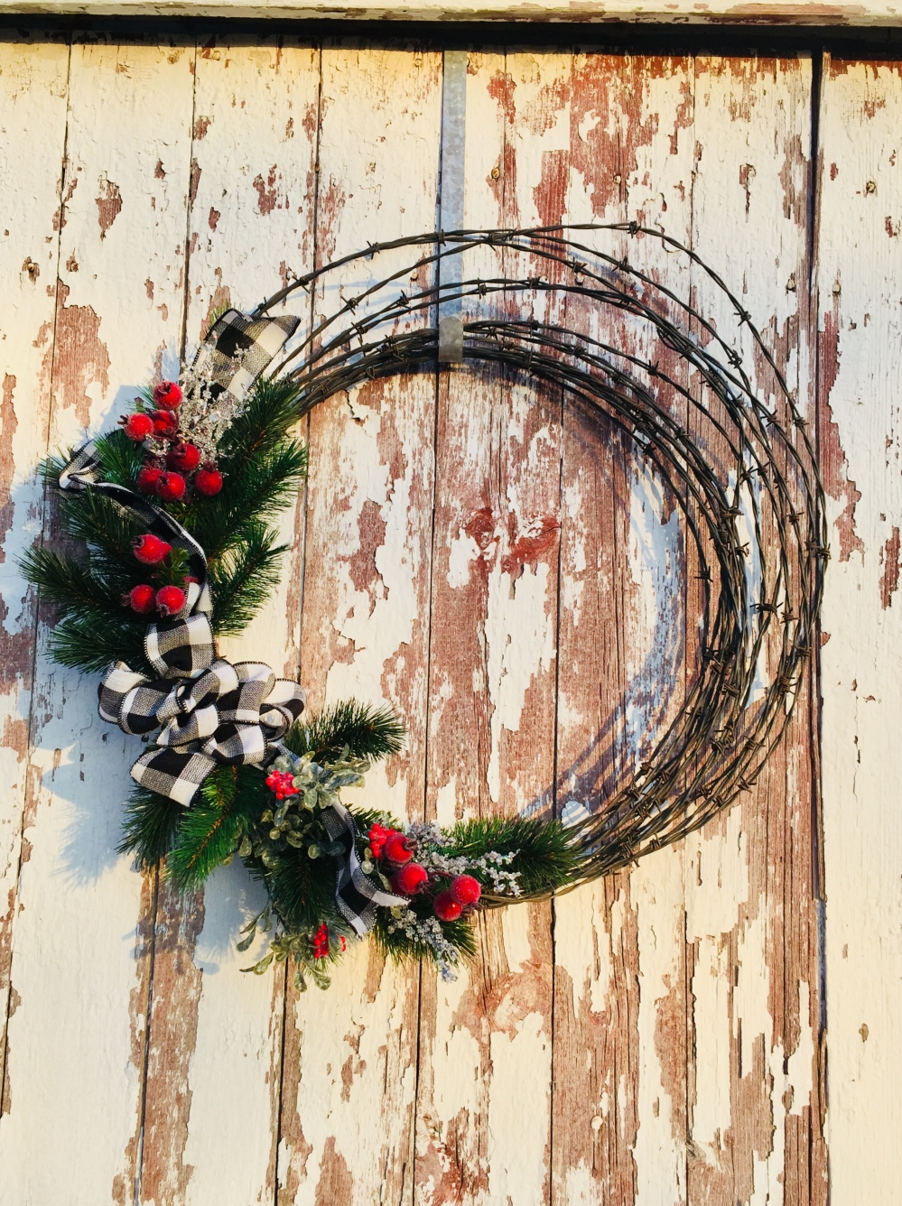 Barbed Wire Winter Wreath