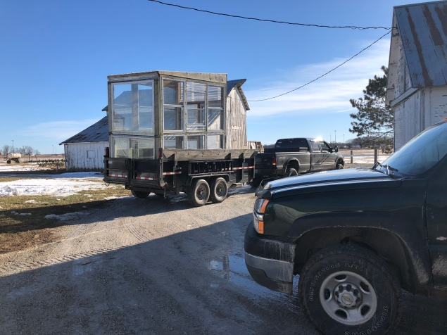 Bringing in the window greenhouse!