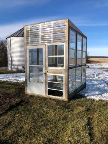 Window Greenhouse set for planting