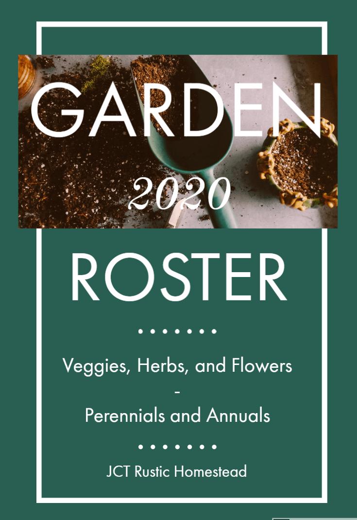 Garden 2020 Roster