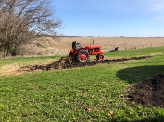 Chiseling with an Allis-Chalmers and 2 Bottom Plow